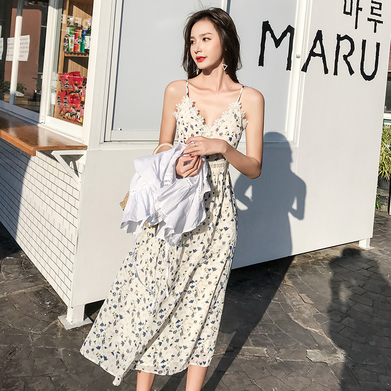 BEST Spring 2019 Long Pleated dress Summer Casual Women High Waist Elascity Free shipping