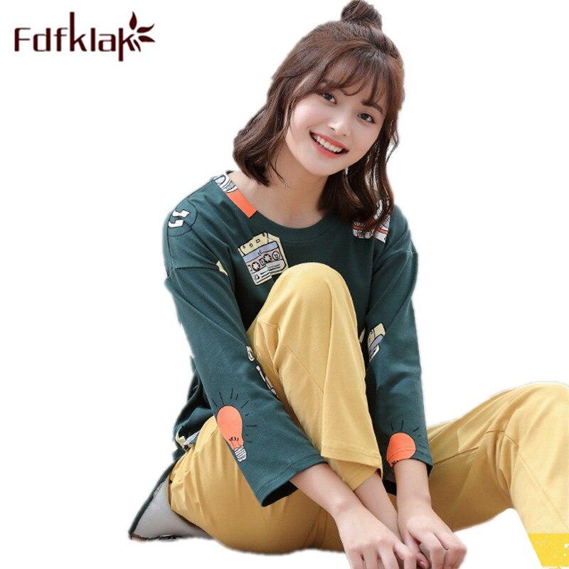 Fdfklak Spring Summer Pyjamas Women Pijama Set Family Pyjamas Home Clothing Womens Pajamas Sleepwear Sets Plus Size M-XXL Q704