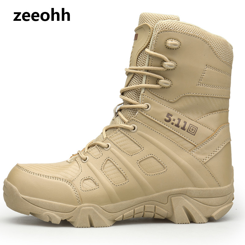 Hot Winter Autumn Men Military Boots Quality Special Force Tactical Desert Combat Ankle Boats Army Work Shoes Leather Snow Boots
