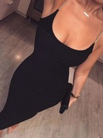High Quality White Black Sleeveless Celebrity Rayon Bandage Dress Night Club Party Bodycon Dress