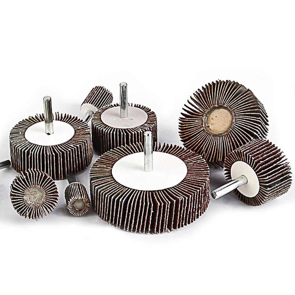 10 tk klapiga monteeritud rattapesa metalli poleerimispea - Abrasiivtööriistad - Foto 1