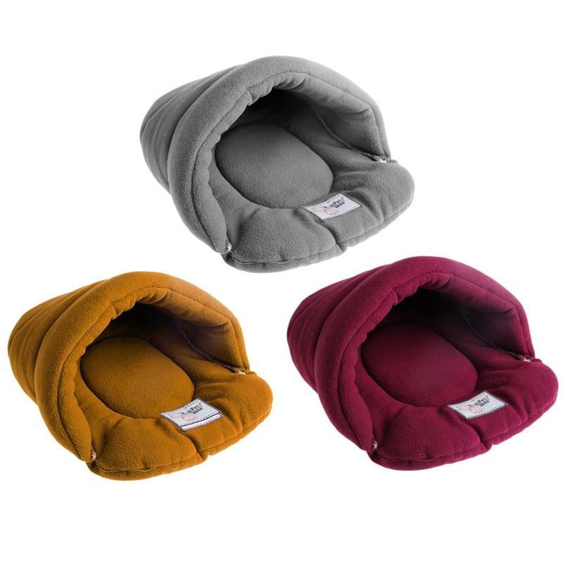 Warm Pet Soft Warm Bed House Plush Cozy Nest Cat Mat Slippers Shape Pad Cushion Cute Winter Cat Beds & Mats Cat Supplies