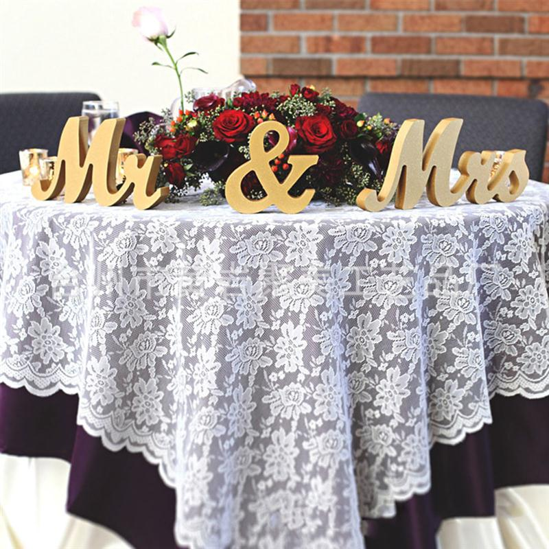 Wedding Gift Table Ideas: Gold Glitter Powder Mr & Mrs Wooden Letters For Wedding