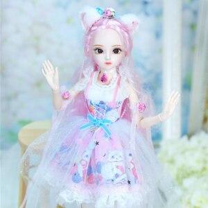 Image 2 - Dbs Doll1/4 Bjd Dairy Queen Naam Door Rebecca Roze Haar Mechanische Joint Body Meisjes, Sd