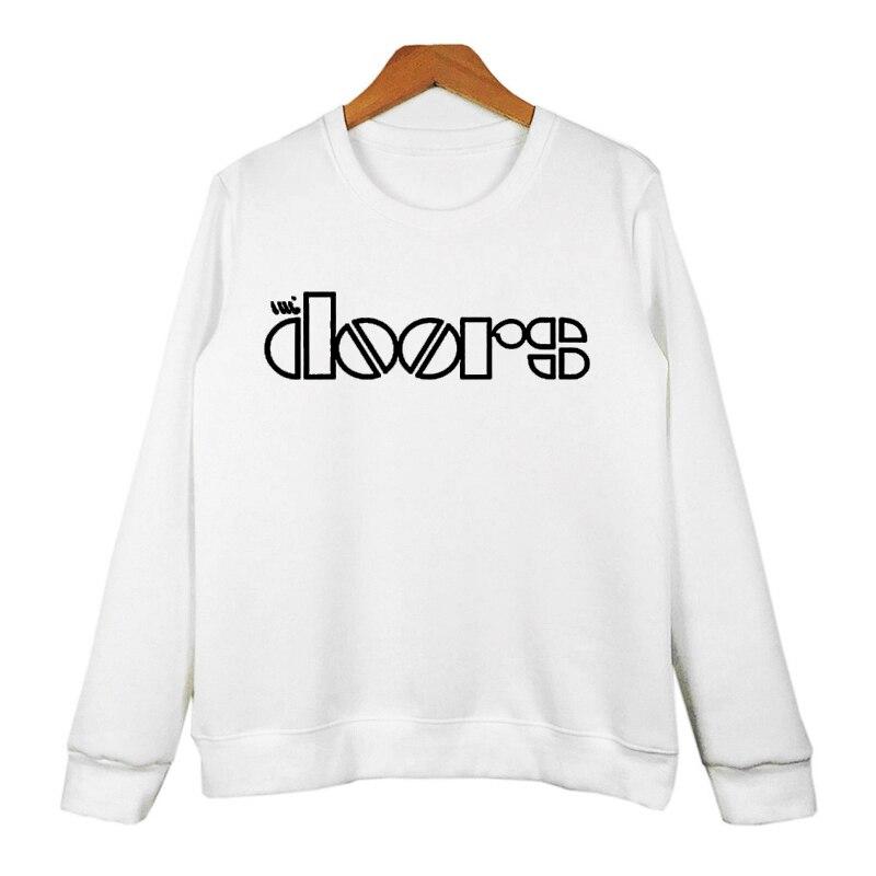 2016 Fashion Brand Letter Printed DOORS Hoodies Women Men\u0027s Sweatshirt Funny Hip-hop Casual Tracksuit