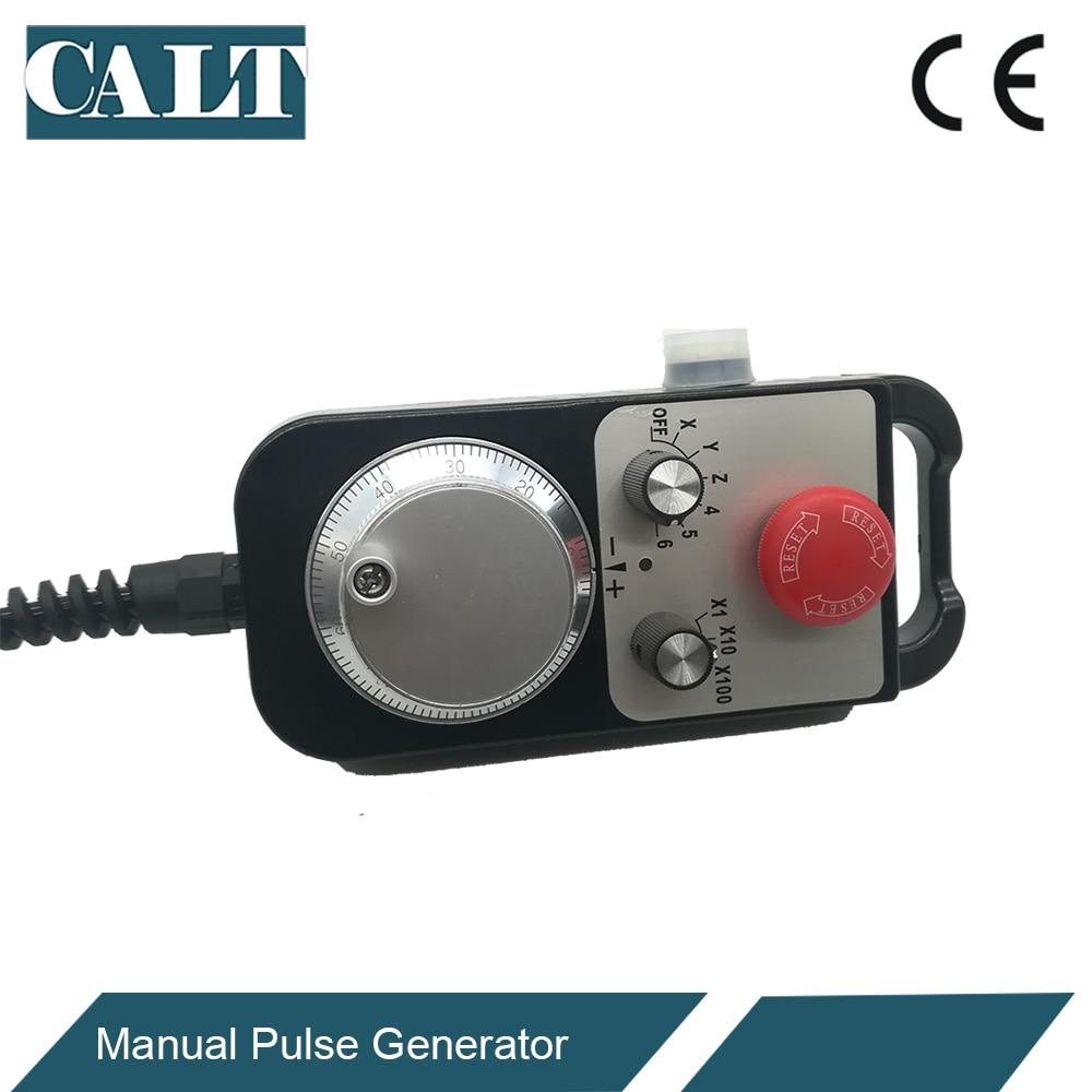 Купить с кэшбэком CALT CNC Controller Hand wheel Encoder 6 axles MPG Manual Pulse Generator with E stop Milling Machine TM1474-100BSL5