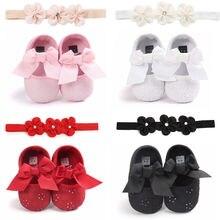Newborn Toddler Baby Girl Crib Shoes Pram Prewalker Anti-slip Sneakers Soft Sole