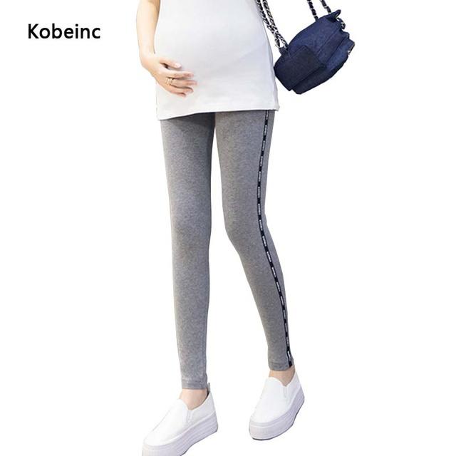 Calças de Maternidade elástica Cuidados Abdômen Leggings Para Mulheres Grávidas 2017 Primavera Plus Size Hamile Giyim Gestação Calças 3 Cores