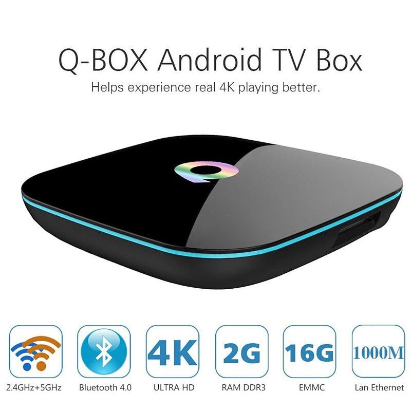 ФОТО Smart TV BOX QBOX 2GB/16GB Amlogic S905 Mali-450 Android 5.1 Dual WIFI Mini PC