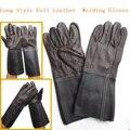 Долго Стиль Полный Коровьей Темный Цвет Сварочные Перчатки износостойкости Защитные Перчатки