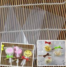 100 Pack Small Clear Top Open OPP Plastic Bag for Lollopop Chocolate Candy Cake Ice-lolly, No adhesive Baking Packaging Pouch(China)