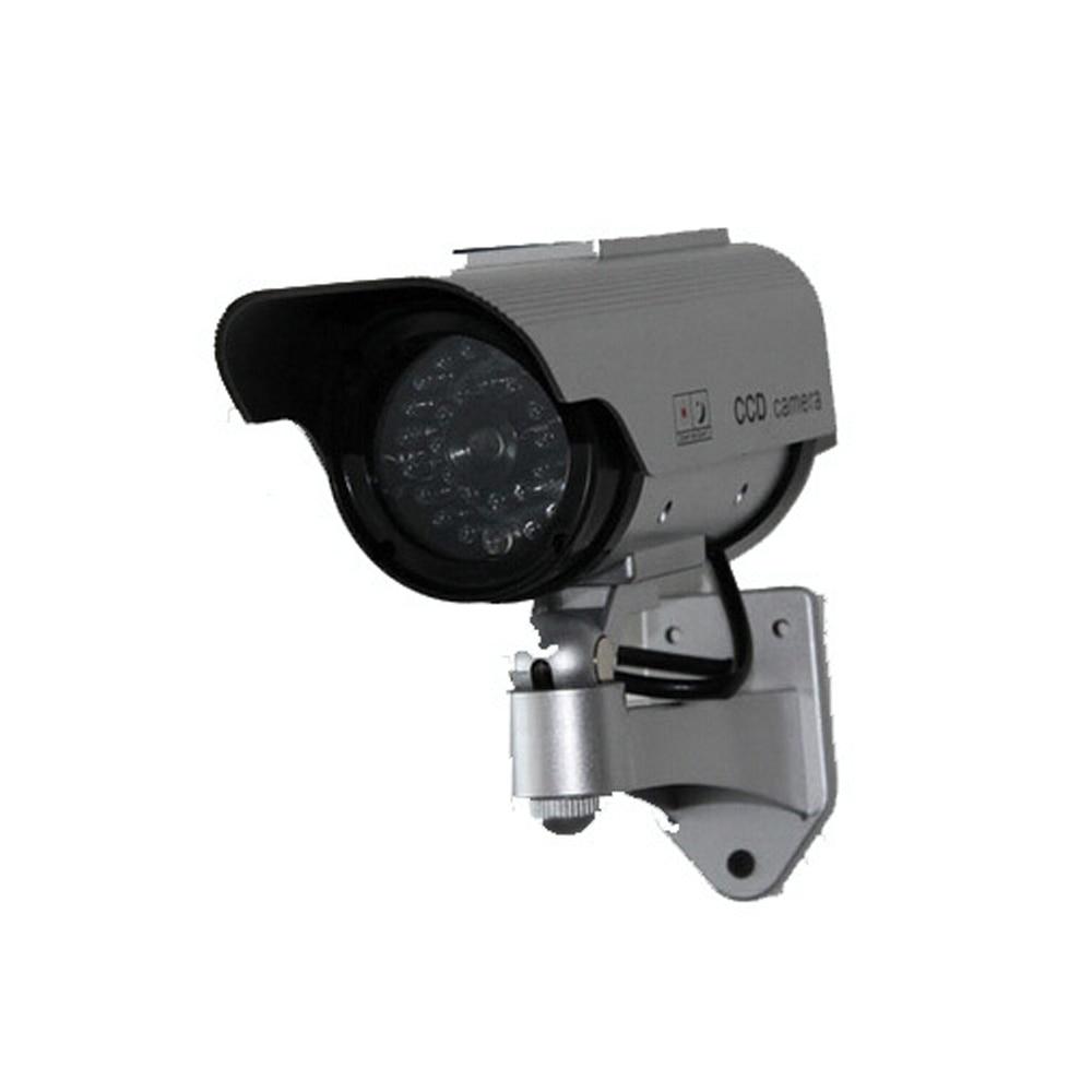1 PCS Solar Power Imitation High Simulation CCTV Camera Dummy Camera Fake Monitor Waterproof Outdoor Surveillance Camera