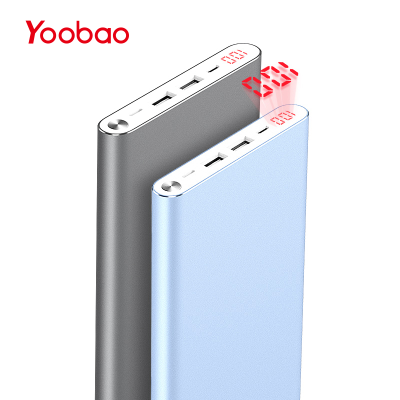 Yoobao A2 Power Bank 20000mAh Dual USB Output/Input Ultra Slim External Battery with Digital Display Mobile Portable Charger