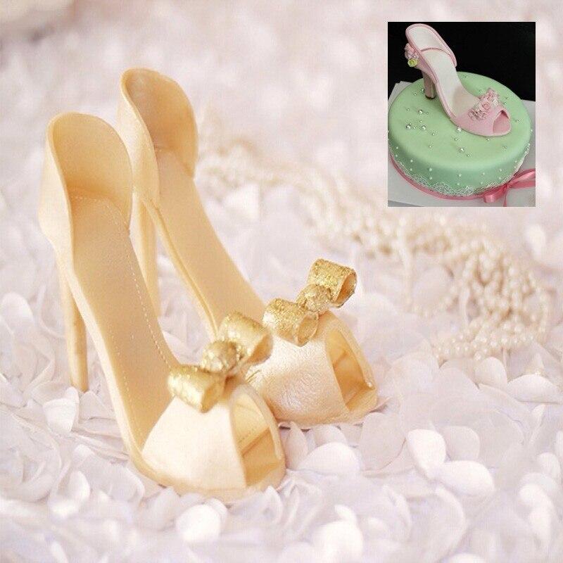 Silicone shoes mold silicone mold fondant cake decorating for Baking decoration