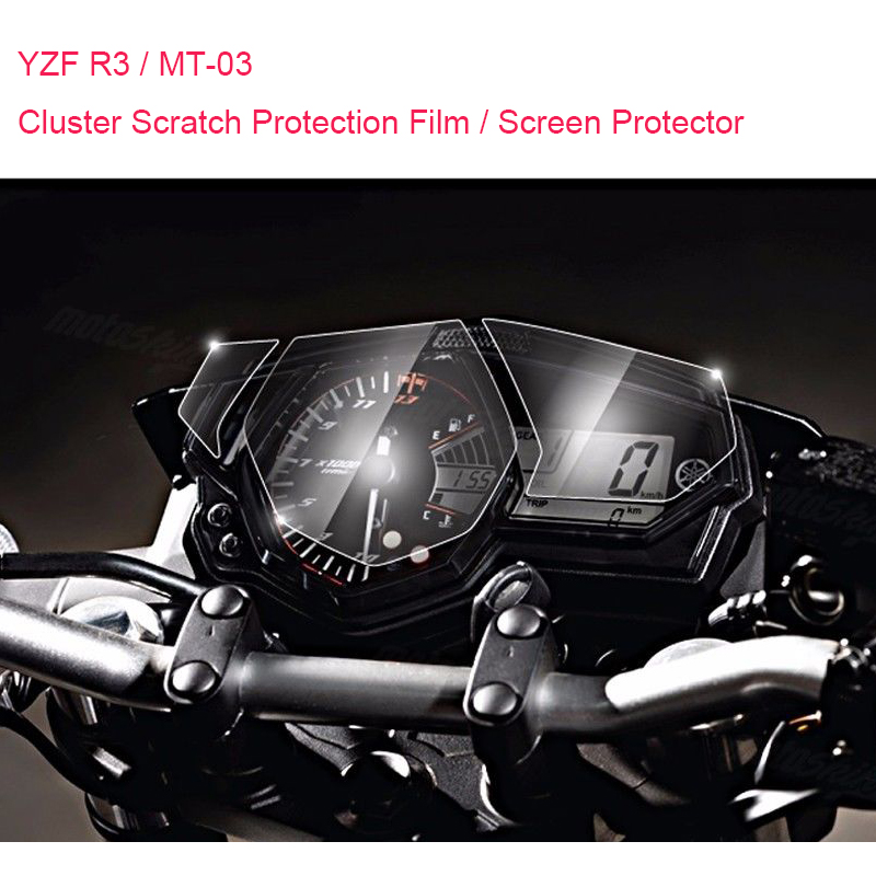 Brand New For Yamaha R3 YZF R3 MT-03 MT03 Cluster Scratch Protection Film Screen Protector for Yamaha YZF-R3 MT 03 brand new smt yamaha feeder ft 8 2mm feeder used in pick and place machine