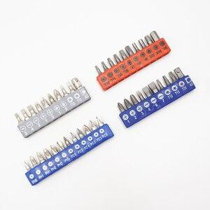 Image 2 - 1 conjunto de 1/4 ponteiras de chave de fenda, 1 conjunto com Polegada ponteiras de chave de fenda hexagonal phillips pozi, comumente usado e adaptador suporte