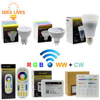 Mi Light Led Spotlight GU10 MR16 2 4G 4W RGB CCT Color Change Dimmable Light Bulb