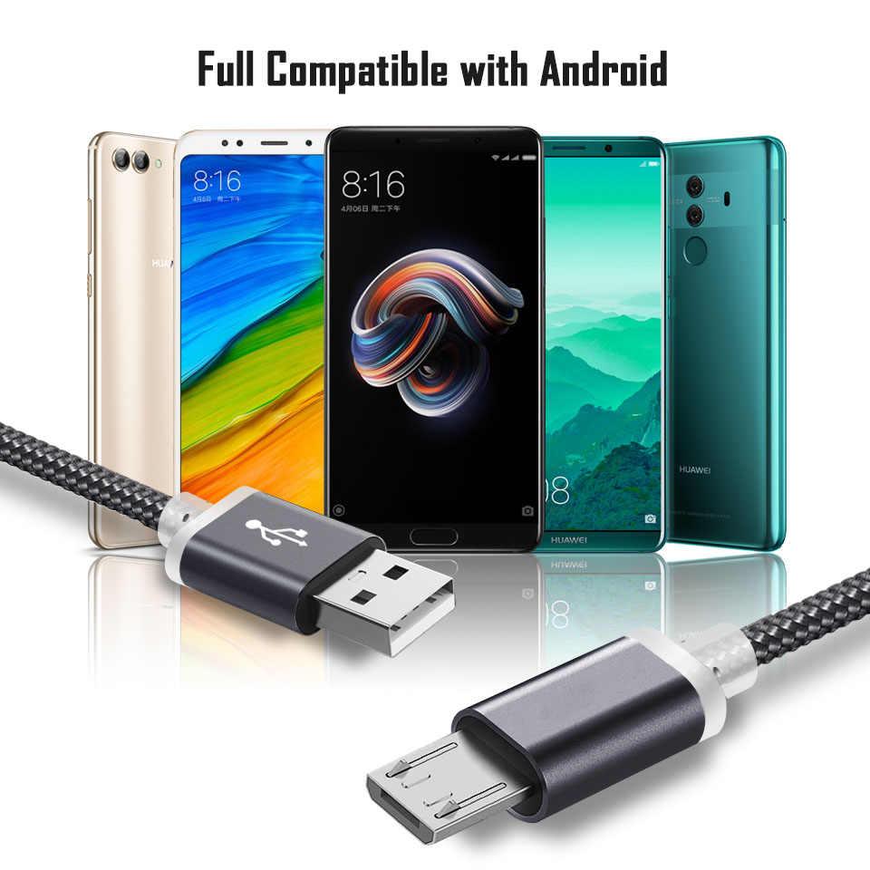 25cm krótki 2 m/3 m 9mm bardzo długi Micro kabel do ładowania usb dla Oukitel C11 Blackview A20 Doogee ładowarka Micro usb Cabel 2/3 metr
