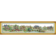 Everlasting Love Christmas European Town Ecological Cotton Cross Stitch 11CT And 14CT Printed  DIY Gift New Year Sales Promotion