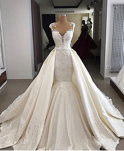 f98b10bfba138 Eslieb High-end custom made lace with crystal beads Lace wedding dress 2019 mermaid  wedding dresses