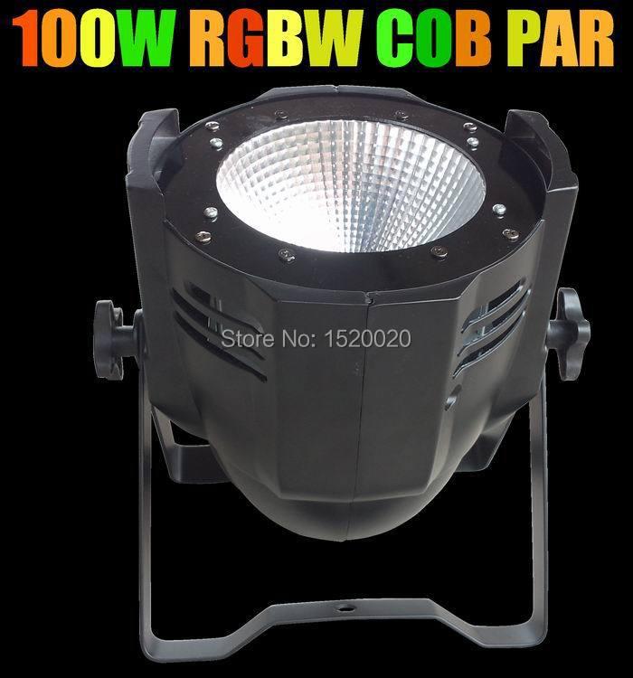 RGBW color 100w cob led PAR light cheap sale DMX led par light