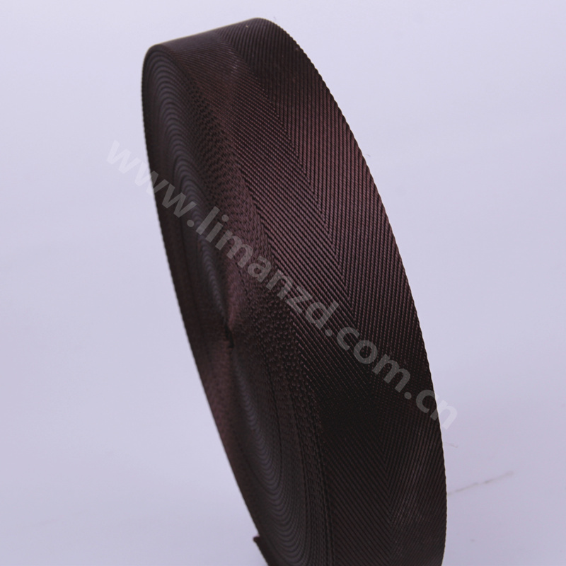 1 25 1 1 4 32mm brown nylon herringbone tape webbing for bags shoulder strap