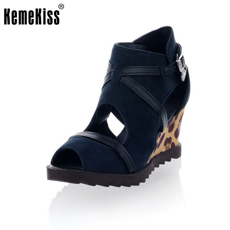 Women High Heel Sandals Wedges Ladies Gladiator Open Toe Shoes Summer Platform Fashion Sandals Zapatos Mujer Size 35-39 PA00763 2017 summer shoes woman platform sandals women soft leather casual open toe gladiator wedges sandalia mujer women shoes flats