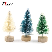 15PCS Mini Christmas Tree Small Pine Tree DIY Trees Placed In The Desktop Home Decor Christmas Party Decoration Kids Gift(China)