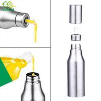 750ML Stainless Steel Leak Proof Oiler Spice Jar Soy Sauce Bottle Kitchen Supplies Cruet Vinegar Bottle