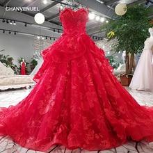 CHANVENUEL LSGT2589 lace flowers luxury evening dress