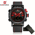 Nuevos relojes para hombre top brand naviforce deporte militar hombres reloj de cuarzo correa de cuero de moda de lujo casual reloj relogio masculino
