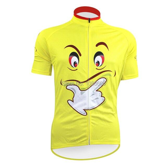 Classic Creative Yellow Cool Expression Cycling Jersey Short Sleeve Bike  Shirt Size 2XS To 5XL 6c6ee914e
