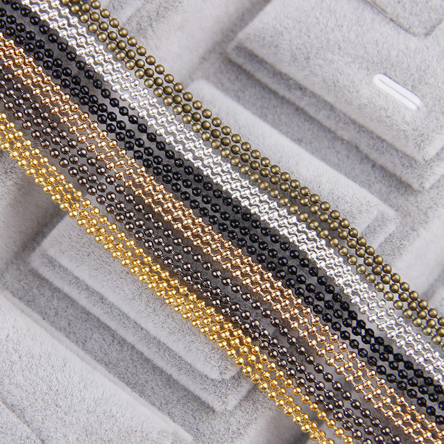 5m/lot 1.5mm Metal Ball Bead Chains 7Colors Ketting Kettingen Bulk  Bulk Iron Chains For Diy  Jewelry Accessories 4