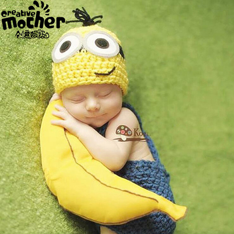 New Handmade Knitting Soft Hat Pants Set Baby Clothing Accessories For 0 3 Months Newborn Baby Girl Boy Photography Props