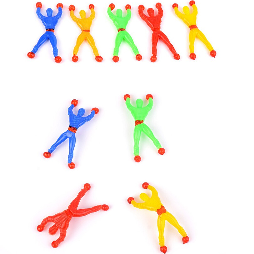12Pcs/Set 8.5*4cm Mini Funny Cute Cabinets Desk Cup Doors Walls Glass Tricky Childrens Climbing Spider-Man Spiderman Toys