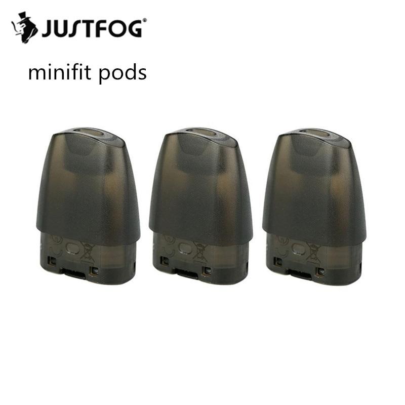 15pcs Original JUSTFOG Minifit Pod For JUSTFOG Minifit Electronic Cigarette Starter Kit Vapor Hookah E-Cigarettes Pod 1.5ml Tank