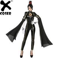 XCOSER Umbra костюм ведьмы игра Bayonetta комбинезон для косплея женский сексуальный черный Боди Хэллоуин косплей вечерние PU кожаный костюм