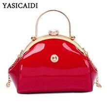 YASICAIDI Luxury Brand PU Leather Women Chain Shoulder Bag F
