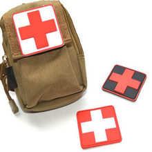 Good Quality Outdoor Products PVC Badge Armband The Medical Rescue Of The Red Cross Chapter Morale Military Badges Badges(China)