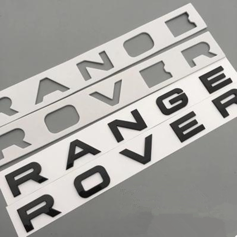 3D ABS Car Styling Front Hood/Real Car Badge Emblem Sticker Letters Sports Style for Range Rover Evoque Badge Accessories руководящий насос range rover land rover 4 0 4 6 1999 2002 p38 oem qvb000050