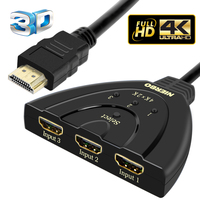 NIERBO HDMI Splitter 3 Input 1 Output 4K 3Port HDMI Switcher Swtich HDMI 3D For TV