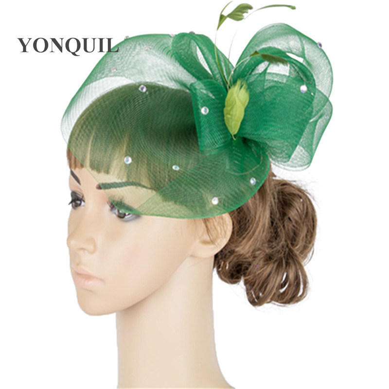 Charming multiple color fedora wedding fascinator headwear bridal headpiece millinery hair accessories wedding hats  TMYQ048