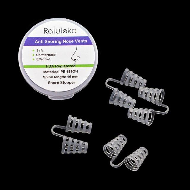 4 paar Siliconen Anti Snurk Plugs Neusspreiders | DealQlub.com