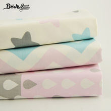 Booksew 100% Cotton Fabric Light White and Pink Color Bedding 4pcs/lot Patchwork 40x50cm Scrapbooking Children Clothes  Curtain