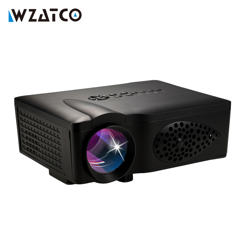 Wzatco ct37 1600lumen led hd hdmi usb 1080p home theater for Portable video projector