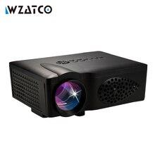 WZATCO CT37 1600 lumen LED HD HDMI USB 1080 p Home cinéma Led LCD Portable Mini film Projecteur Vidéo Numérique 3D Proyector beamer