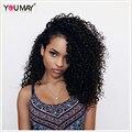 Глубоко Вьющиеся 360 Кружева Фронтальной Парик Бразильский Полный Шнурок Человеческих Волос парики Для Чернокожих Женщин 7А Deep Вьющиеся 360 Кружева Волосы Девственницы парики