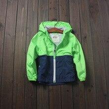 Новое поступление мальчиков мода мальчики лоскутное верхняя одежда пальто ребенок свободного покроя осень куртка