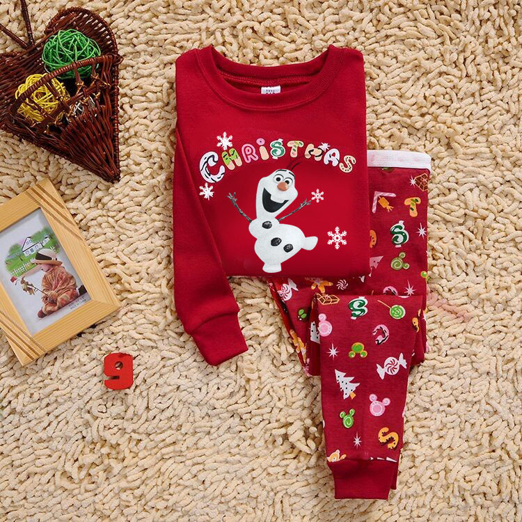 2017 New Arrival Christmas Pajamas Kids Character Sleepwear kids pijamas ready in stock 2-7 year