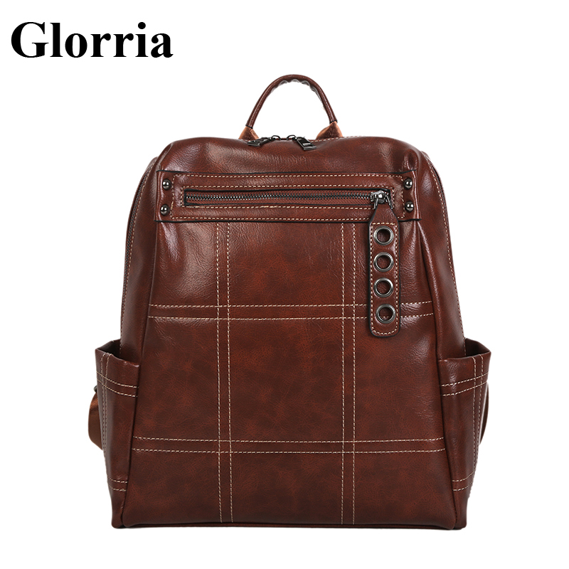 Glorria Famous Brands Womens Backpack 2018 Big Capacity Shopping Bag  Teenager Girls School Bags Girl Leather 6a0c331b5a2e5